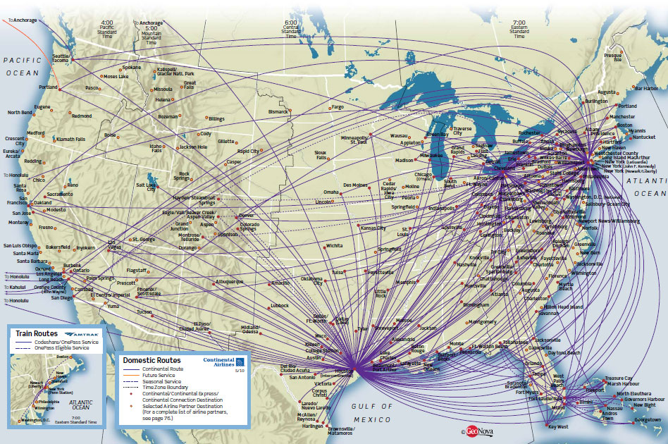 Continental_Airlines map