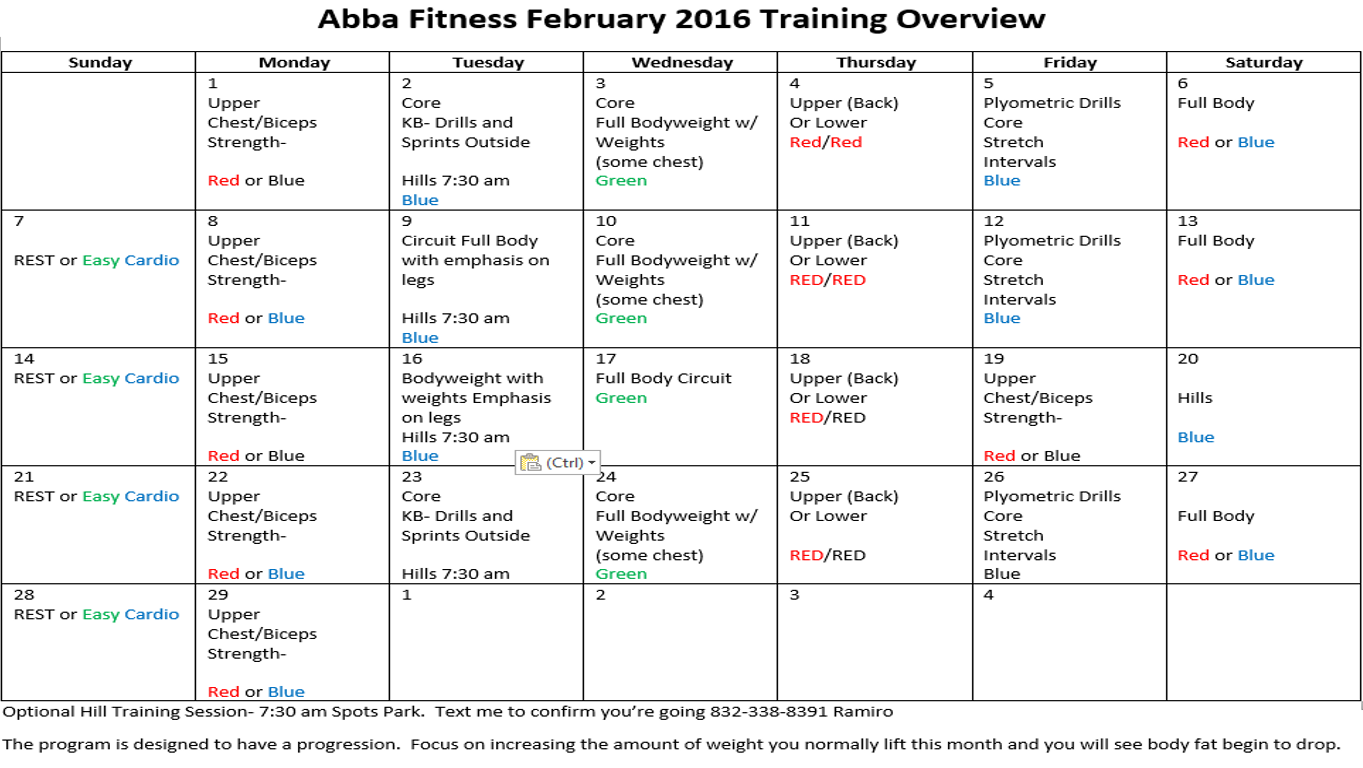 February Training 2016