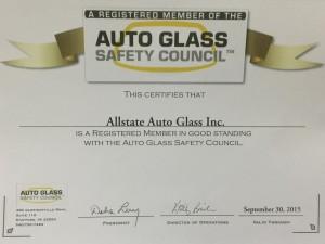 autoglass safety council certificate