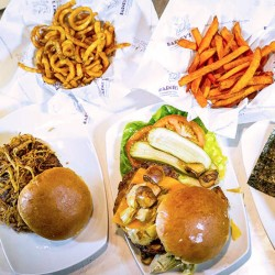 A selection of burgers from our burger bar.