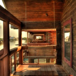 Front Porch Of The Log Cabins