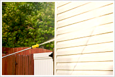 Our vinyl siding pressure washing