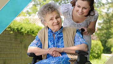 Wheelchair Transportation-Eldery Woman & Care Taker-Cathay Express Transporation