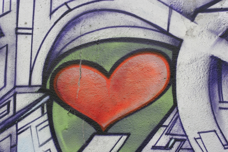 graffiti or street art of a heart