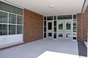 concrete sidewalk in an entryway