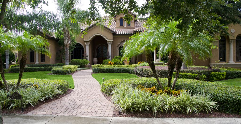 Front yard landscaping jacksonville landscaping designs for South florida home designs