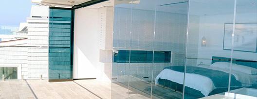 bedroom glass sliding doors