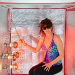 Sauna Fix in use in the Sauna Tent