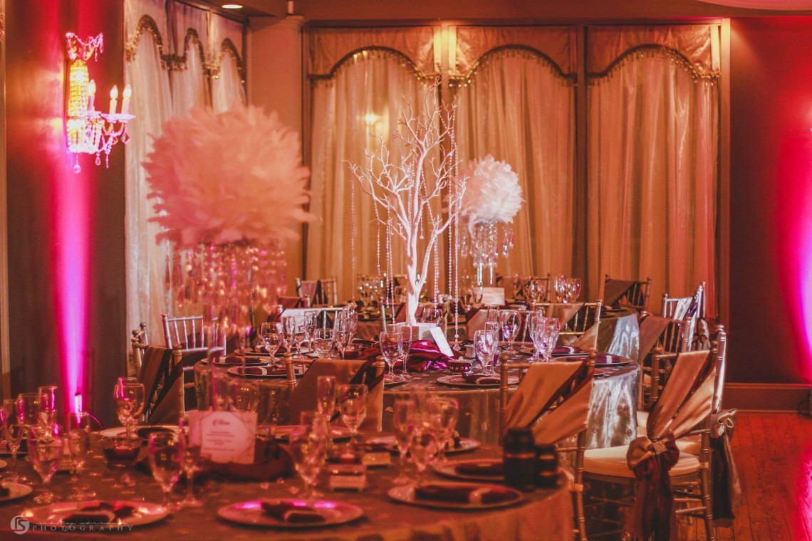 The crystal ballroom orlando wedding venues banquet for Ball room decoration