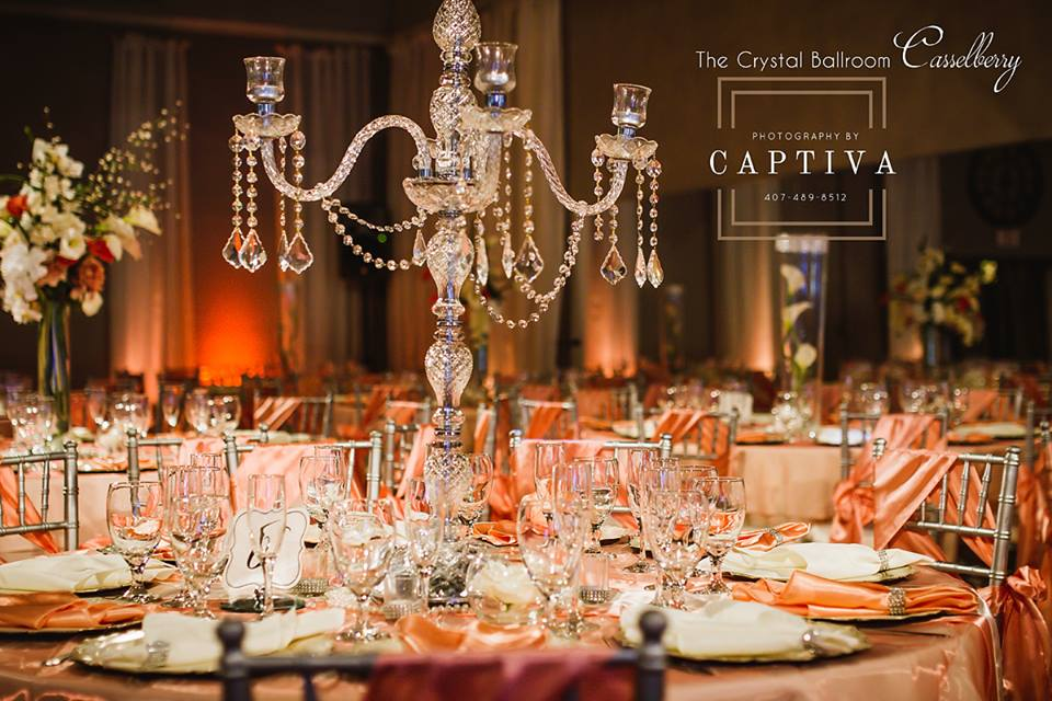 The Crystal Ballroom Orlando Wedding Venues Banquet