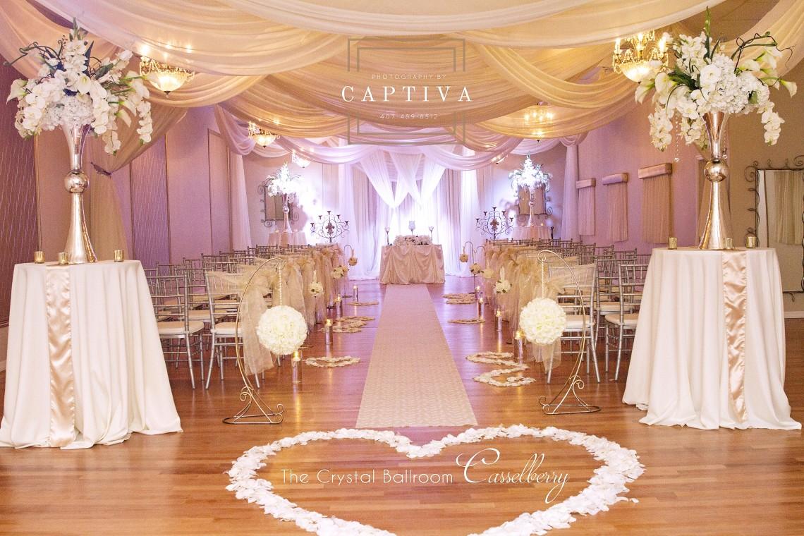 The Crystal Ballroom Orlando Wedding Venues Banquet