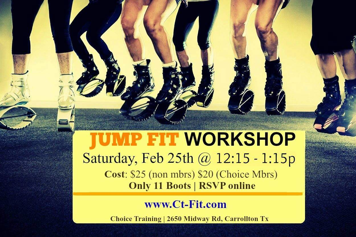 Jump Fit Workshop, CHoice Training Group FItness, Kangoo Boots