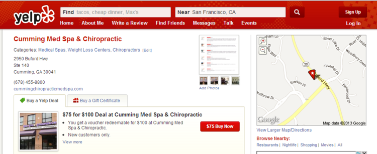 Yelp_Cumming_Med_Spa__Chiropractic__Banner