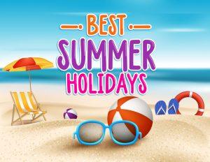 37750092 - summer holidays in beach seashore. vector illustration