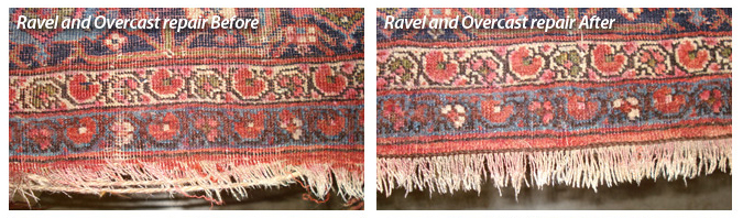 Memphis rug repair before and after