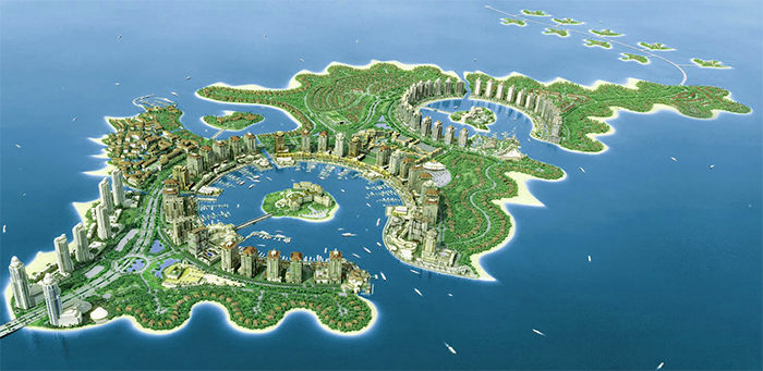 $15B Artificial Island – The Pearl, located in Qatar