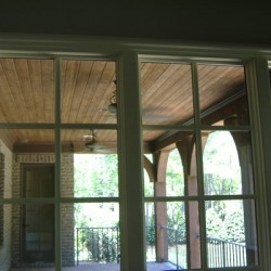 Gorgeous woodwork complete this outdoor Chicago home remodeling project by Home Services Direct.