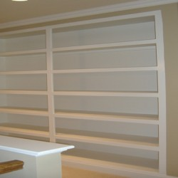 Built in shelves are a great way to maximize space in your Chicago home remodeling project by Home Services Direct.