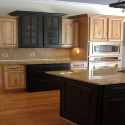 Drama abounds in this Chicago kitchen remodeling project by Home Services Direct.