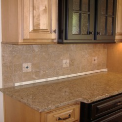 A variety of cabinet door types add character to this Chicago kitchen remodel by Home Services Direct.