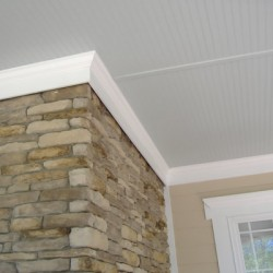 Natural stone brings character to this Chicago home remodeling project by Home Services Direct.