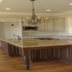 Home Services Direct completed this Chicago kitchen remodel with a unique island design.