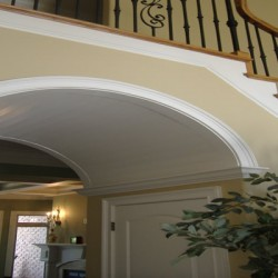 This archway is a unique feature to this Chicago home improvement project by Home Services Direct.