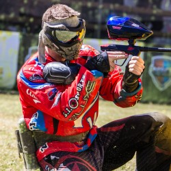 Siewers in action during a professional Houston paintball match.
