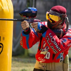 Smith in an event for paintball in Houston.