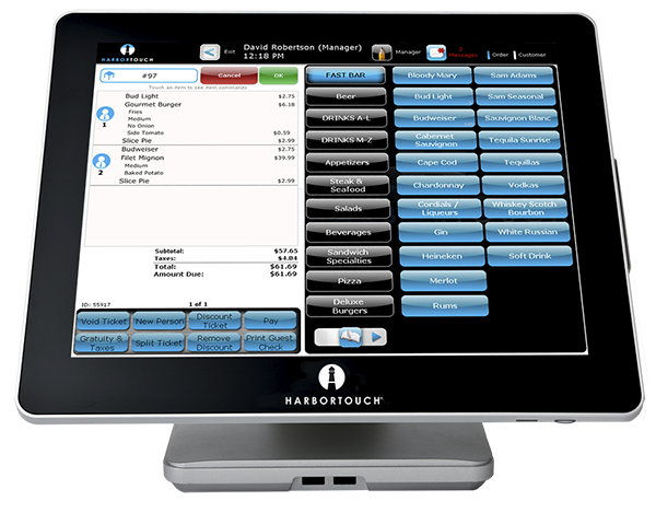 Harbortouch provides restaurant POS systems.
