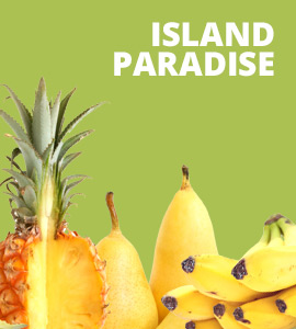Tropical smoothies are a specialty at our smoothie bar.