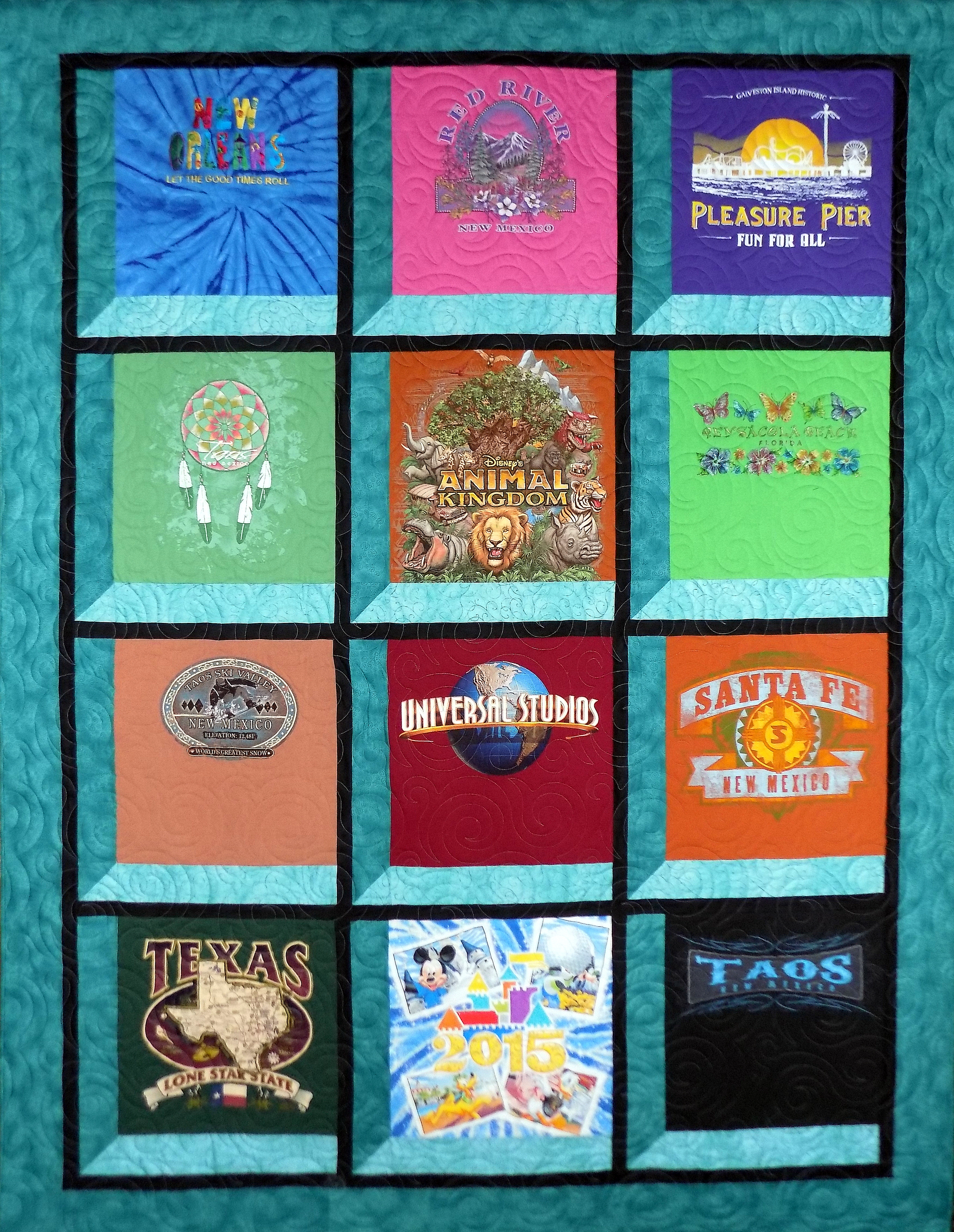 Quilting Patterns For T Shirt Quilts : Attic Windows T-Shirt Quilt Katy T-Shirt Quilts