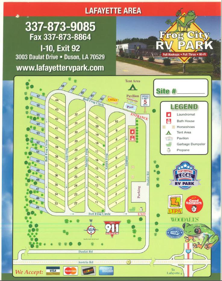 Rv Parks Lafayette La Lafayette Campground Camping