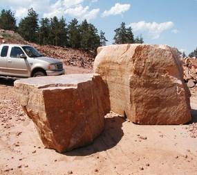 Loukonen Bros. Natural stone boulders.