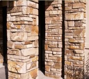 Colorado ledgestone pillars.