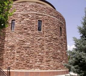 Ledgestone used as a Denver area building facade.