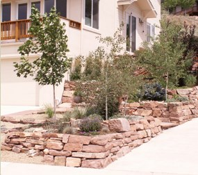 Example of retaining wall blocks used in Colorado.