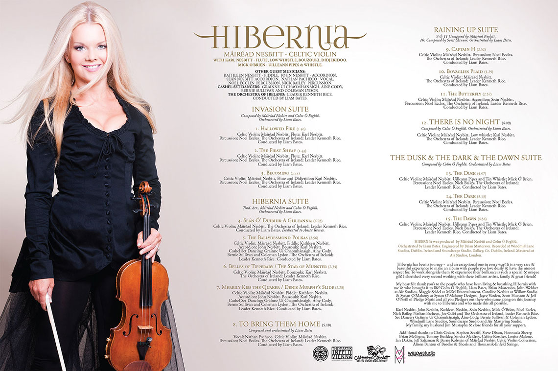 Mairead Nesbitt's new album, Hibernia, is a mix of classical and Celtic violin music.