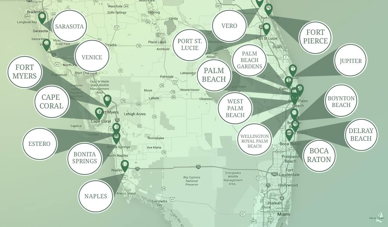 Palm Coast Pest Control Service Areas
