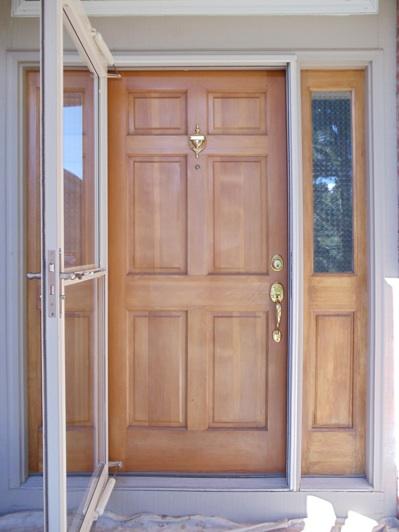 Front Door Refinishing Refinish Wood Door Wood Door Restoration Summit Wood Door Refinishing