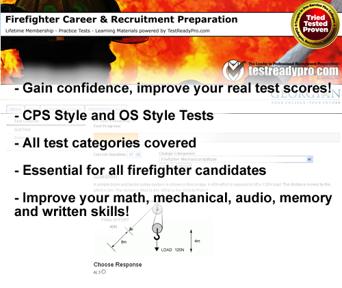 Firefighter Test Practice CPS OS NFST Practice Tests