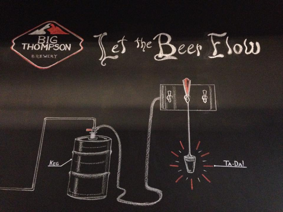 Chalk Art By Grace Jensen at Big Thompson Brewing. Loveland, Colo.