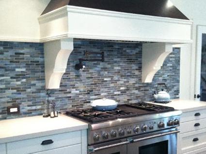 Backsplash tile in a renovated kitchen