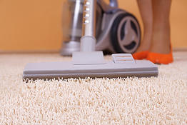 Vacuum cleaner in action - close up