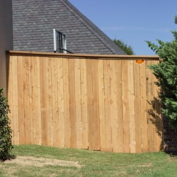 cedar wooden fencing installed by VanHoose