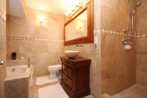 Small bathroom remodels are a good choice.