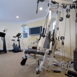 Remodel yourself as you remodel your home with a full exercise room.