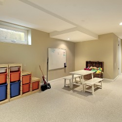 Give the kids a great playroom when you hire us for your basement finishing.