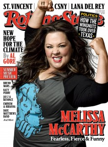 McCarthy on the cover of July's Rolling Stone.