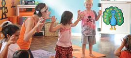 kids yoga in classroom